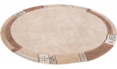 Wollteppich, »India«, LUXOR living, rund, Höhe 20 mm, manuell geknüpft kaufen
