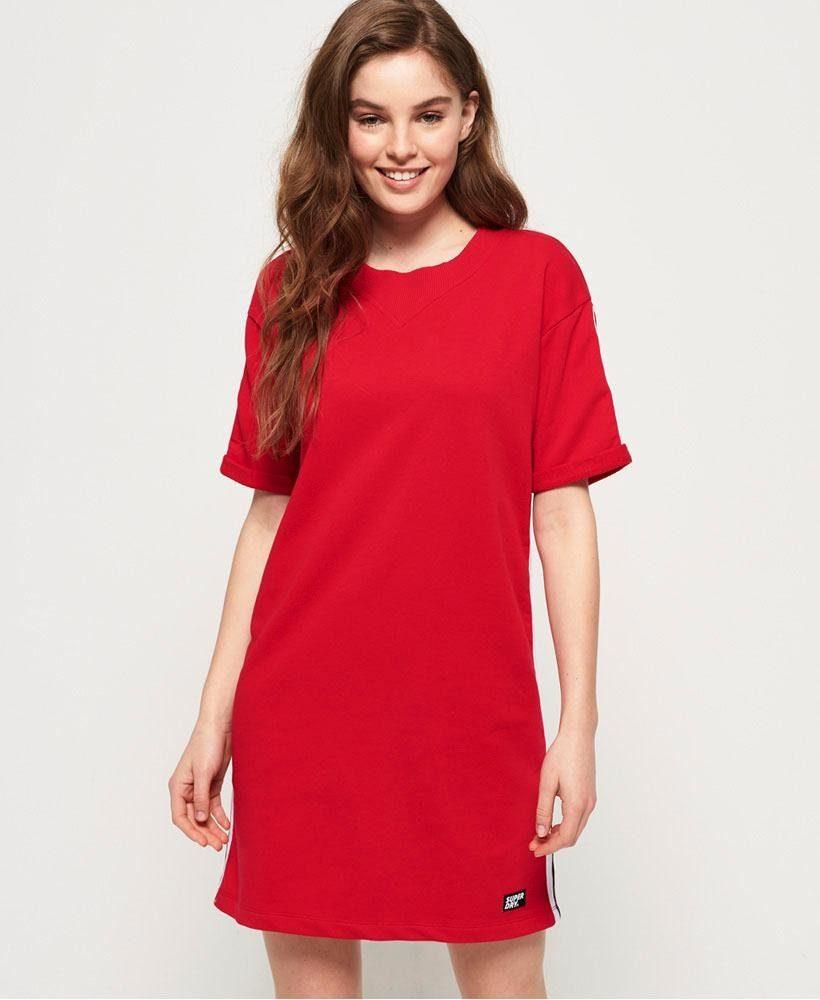 Superdry Sweatkleid GEORGIA SHORT SLEEVE SWEAT DRESS