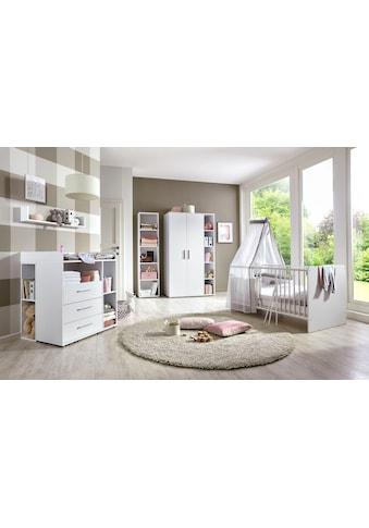 BMG Babyzimmer-Komplettset »Luis«, (Set, 7 tlg.), Bett + Wickelkommode + 2-trg. Schrank + Standregal + Unterstellregal (Set 2-tlg.) + Wandboard kaufen