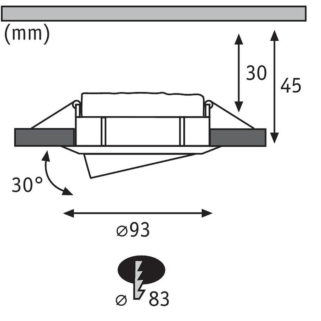 Paulmann LED Einbaustrahler »Nova Plus rund 3x6,8W Weiß matt schwenkbar dimmbar«, 3 St., Warmweiß