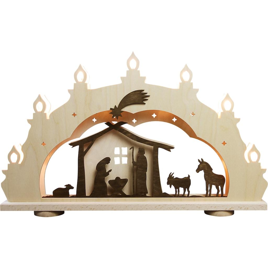 Weigla LED Schwibbogen »Christi Geburt«, 1 tlg., 7-flammig