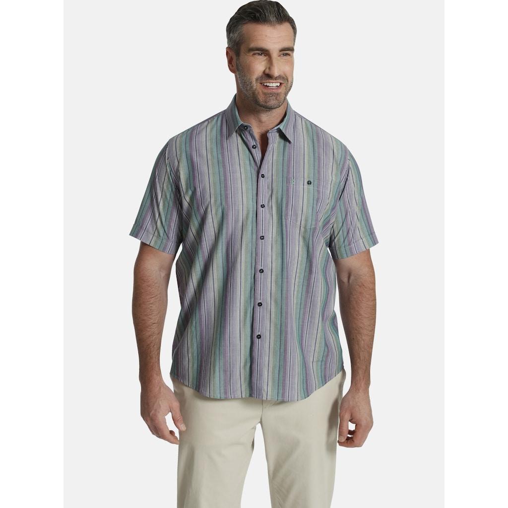 Charles Colby Kurzarmhemd »DUKE OSMOND«, Freizeithemd in Streifenoptik