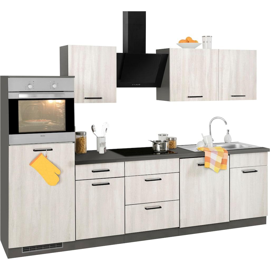 wiho Küchen Küchenzeile »Esbo«, mit E-Geräten, Breite 280 cm