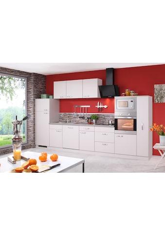 wiho Küchen Küchenzeile »Kansas«, mit E - Geräten, Breite 370 cm kaufen