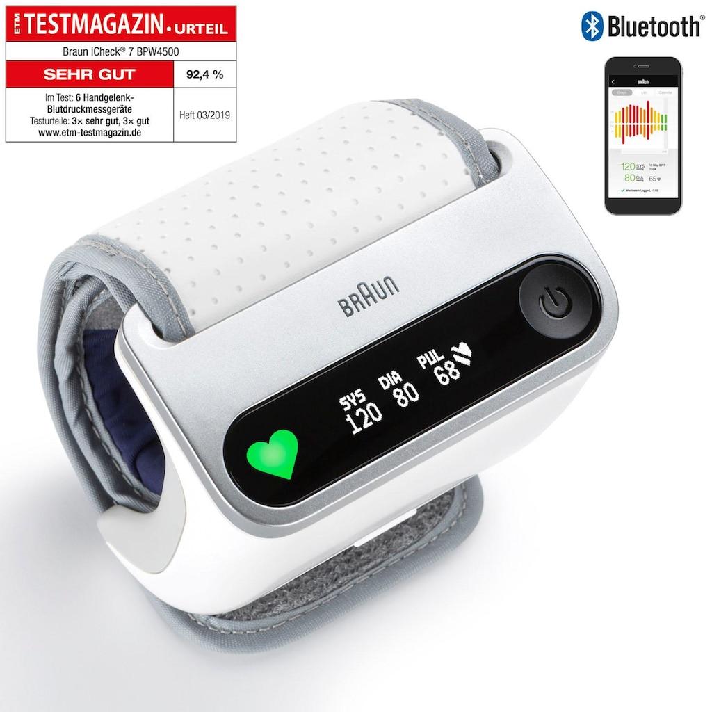 Braun Handgelenk-Blutdruckmessgerät »BPW4500 iCheck® 7«