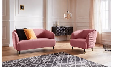 Guido Maria Kretschmer Home&Living Sessel »Oradea«, mit eleganter Steppung auf... kaufen