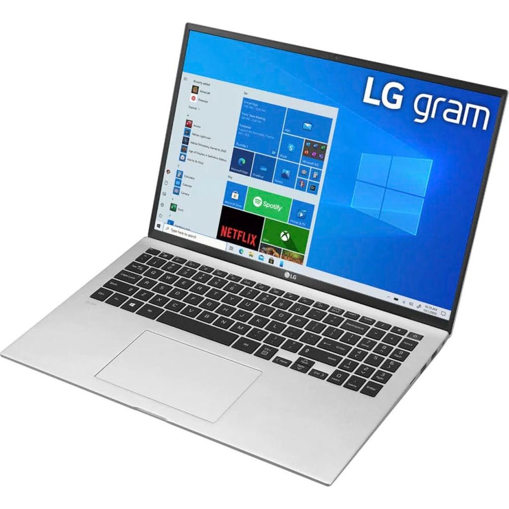 "LG Notebook »gram 17 17Z90P-G.AA79G«, (43,18 cm/17 "" Intel Core i7 Iris Xe Plus Graphics\r\n 1000 GB SSD), Kostenloses Upgrade auf Windows 11, sobald verfügbar"