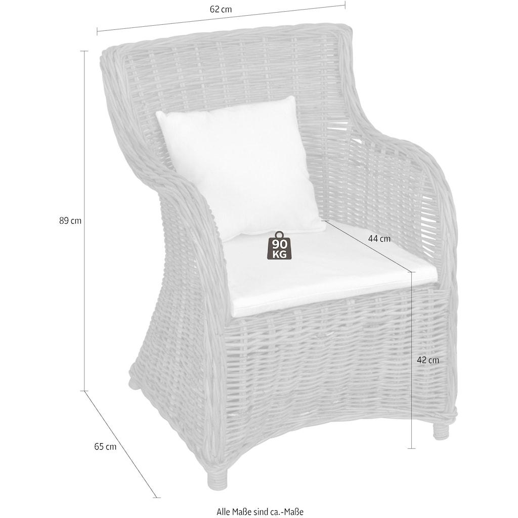 Home affaire Rattanstuhl, aus handgeflochtenem Rattan und großer Sitzschale, Breite 62 cm