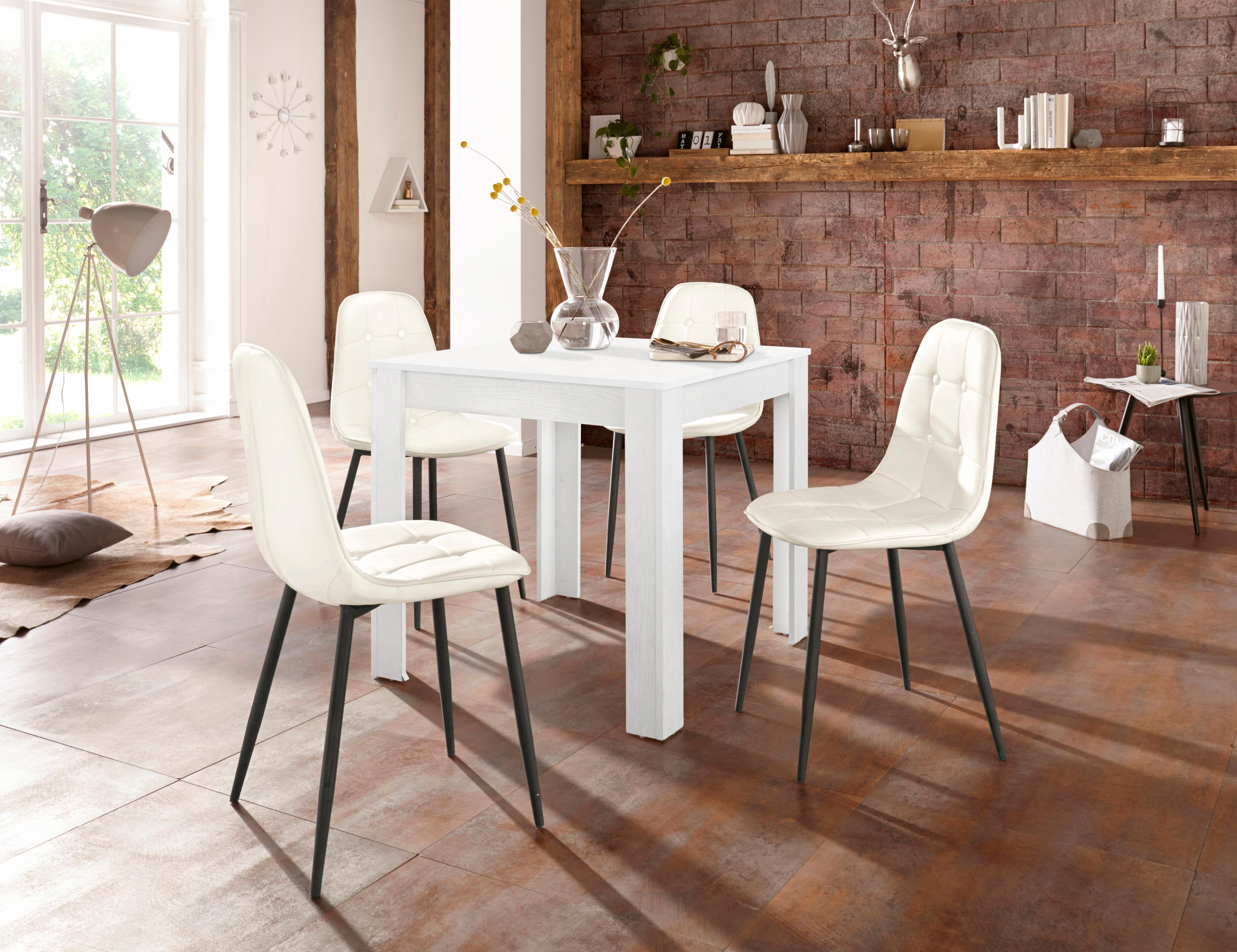Essgruppe (Set 5-tlg) | Küche und Esszimmer > Essgruppen > Essgruppen | Weiß