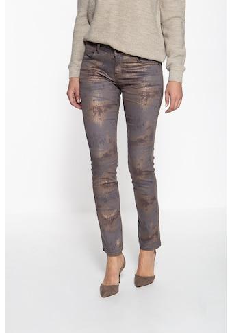 ATT Jeans Stretch-Hose »Belinda«, mit Glanzmustereffekt kaufen
