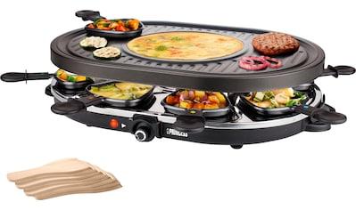 PRINCESS Raclette 8 Oval Grill Party  -  162700, 8 Raclettepfännchen, 1200 Watt kaufen