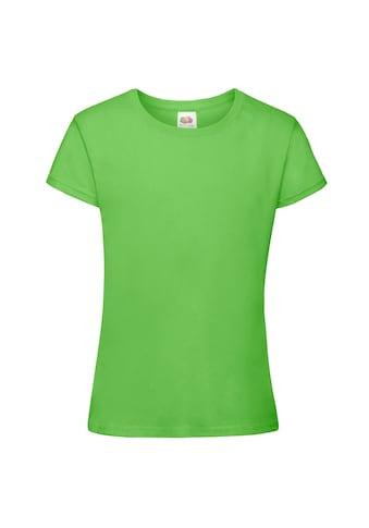 Fruit of the Loom T-Shirt »Mädchen Sofspun, Kurzarm, Rundhalsausschnitt« kaufen