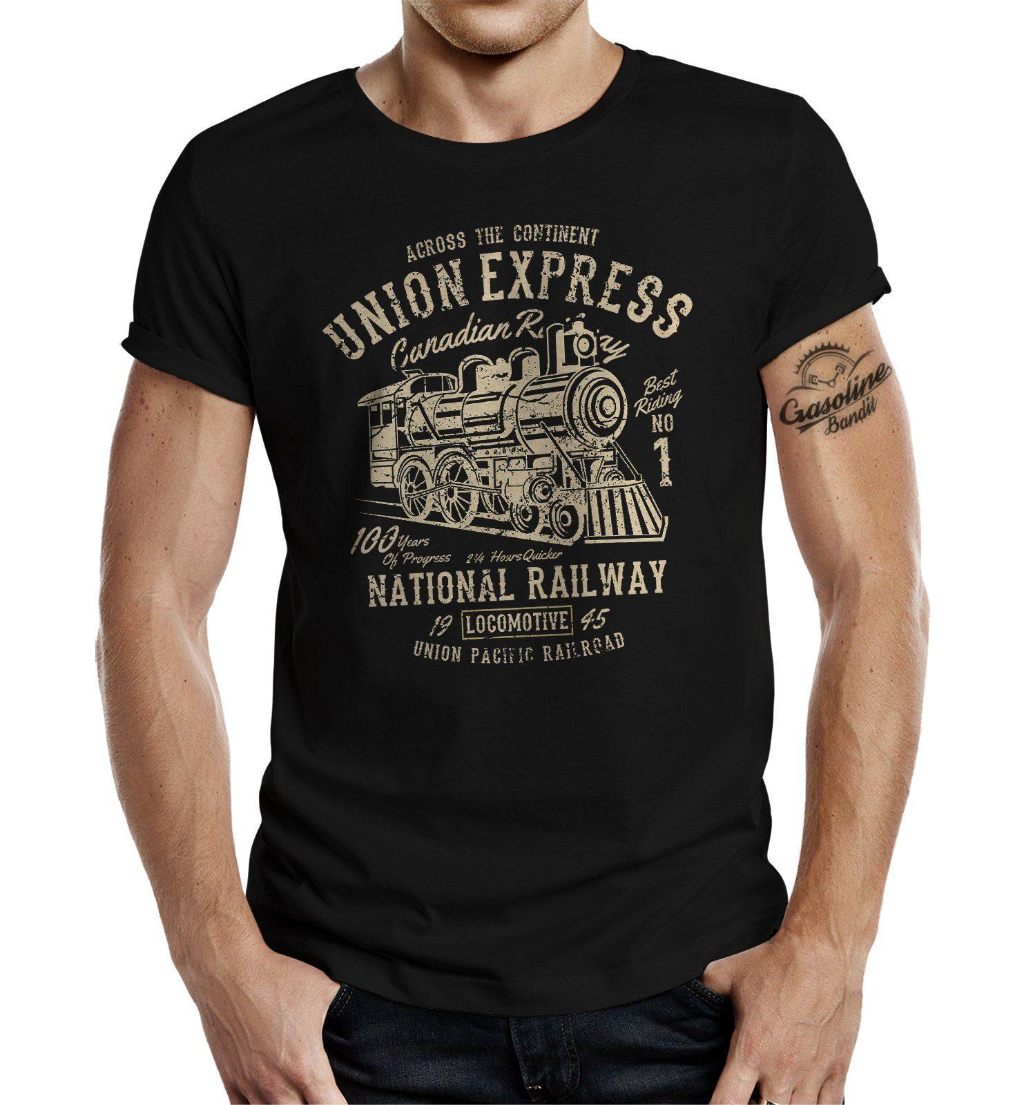 GASOLINE BANDIT T-Shirt mit großem Frontprint schwarz Herren Shirts T-Shirts (kurzarm) 4052743928376