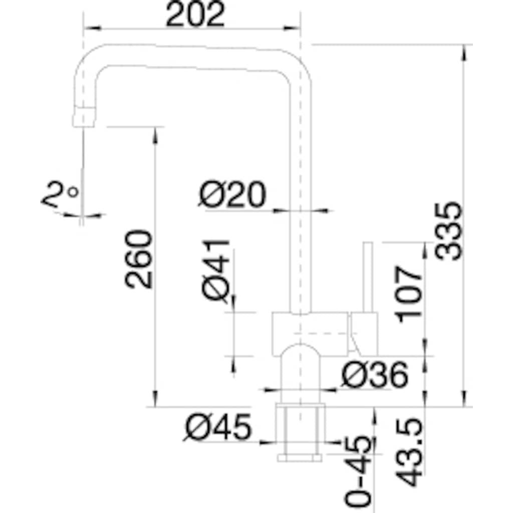 Blanco Küchenarmatur »FINESS«, Hochdruck