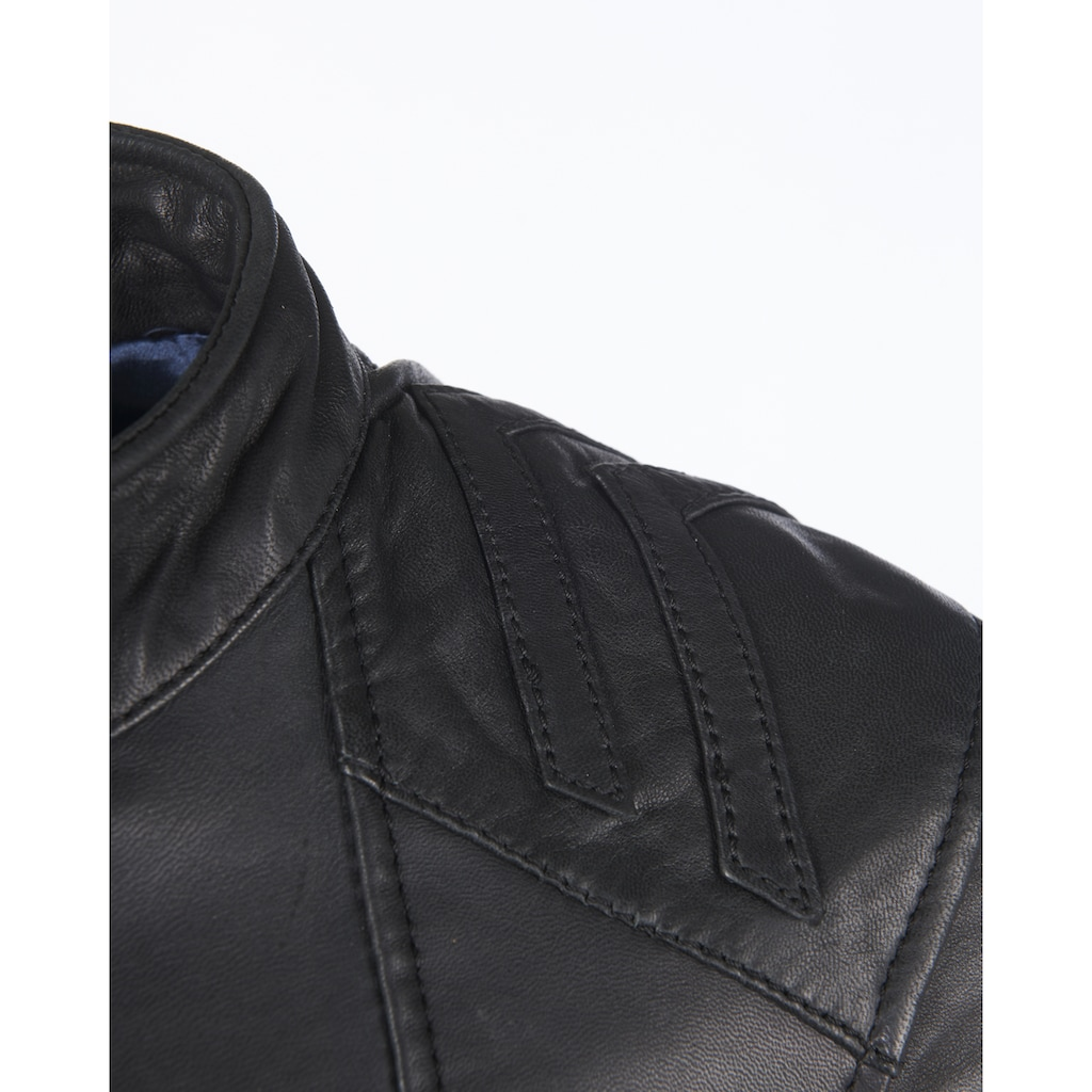 Maze Lederjacke mit Reißverschluss am Ärmel