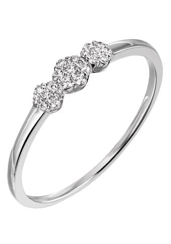 Firetti Diamantring »ca. 1,5 mm breit, Glanzoptik, teilw. rhodiniert, massiv«, mit... kaufen