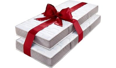 my home Taschenfederkernmatratze »Provita Komfort T«, 544 Federn, (Spar-Set, 2 St., 2-tlg.), verstärkter Randbereich (Sitzkante) kaufen