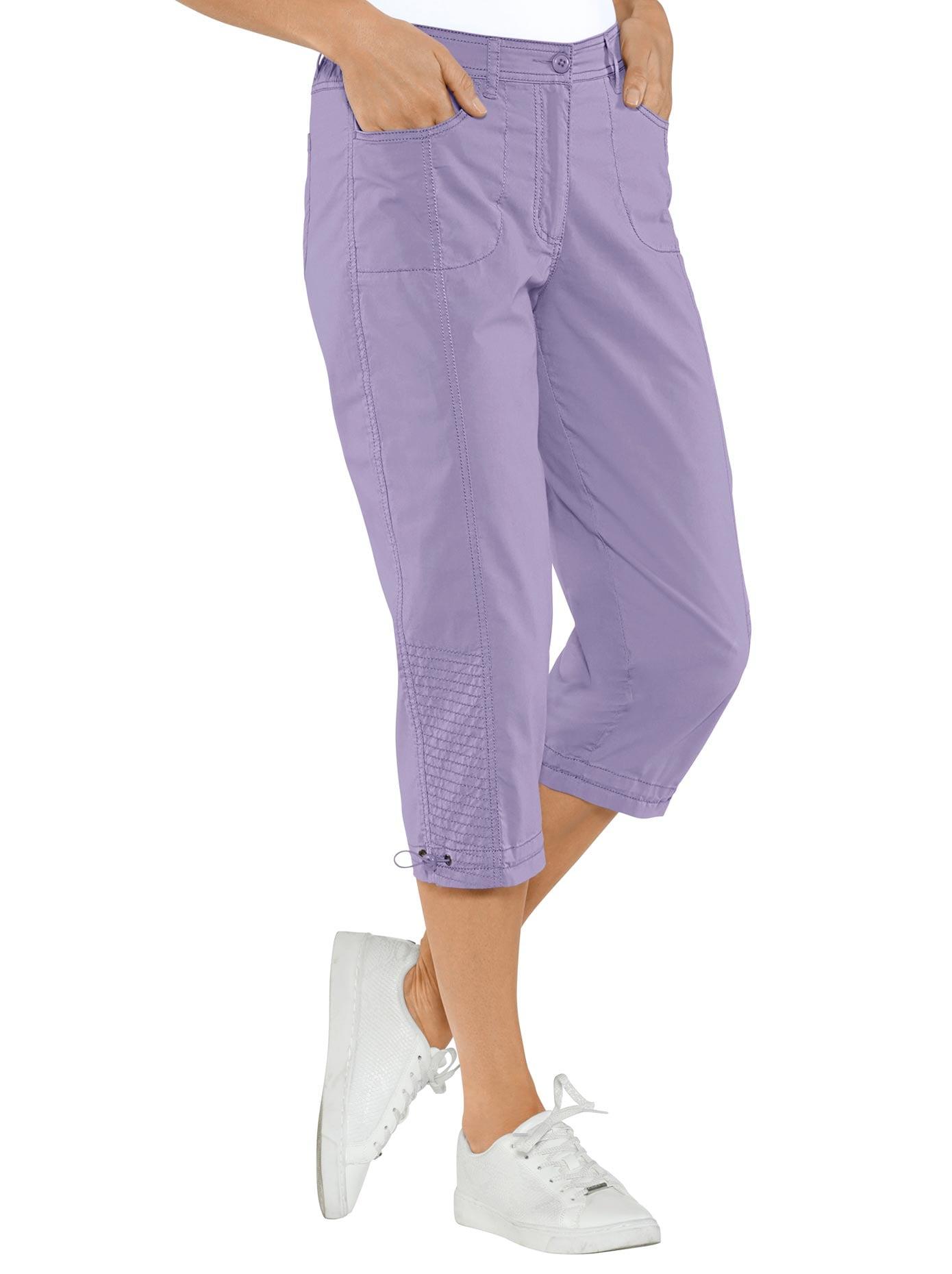 Casual Looks Capri-Hose mit rückwärtigem Dehnbund | Bekleidung > Hosen > Caprihosen | Lila | Casual Looks