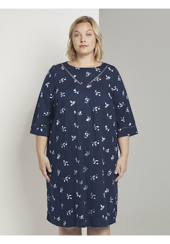 TOM TAILOR MY TRUE ME Blusenkleid »Gemustertes Kleid mit Tape - Detail« kaufen