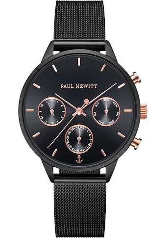 PAUL HEWITT Multifunktionsuhr »Everpulse Black Sunray Roségold Black Mesh, PH002811« kaufen