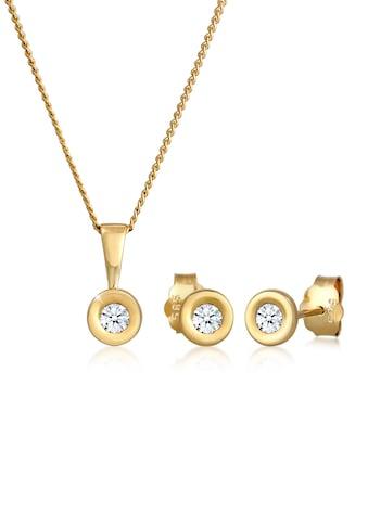 Diamore Schmuckset »Solitär Klassisch Diamant (0.22 ct.) 585 Gelbgold« kaufen