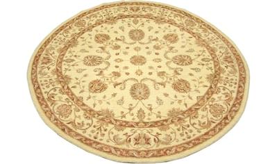 morgenland Wollteppich »Ziegler Teppich handgeknüpft beige«, rund, 7 mm Höhe kaufen