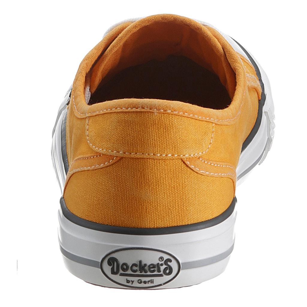 Dockers by Gerli Slip-On Sneaker, mit Logoschriftzug