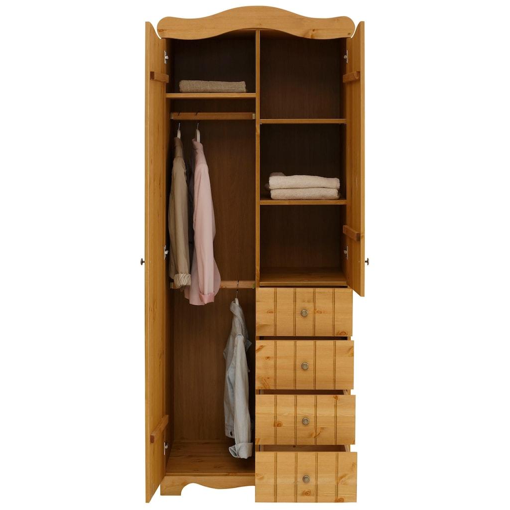 Home affaire Drehtürenschrank »Ieva«, im Landhaus-Design