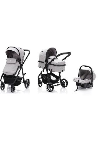 Fillikid Kombi-Kinderwagen »Panther, stone melange«, 22 kg, mit Babyschale kaufen