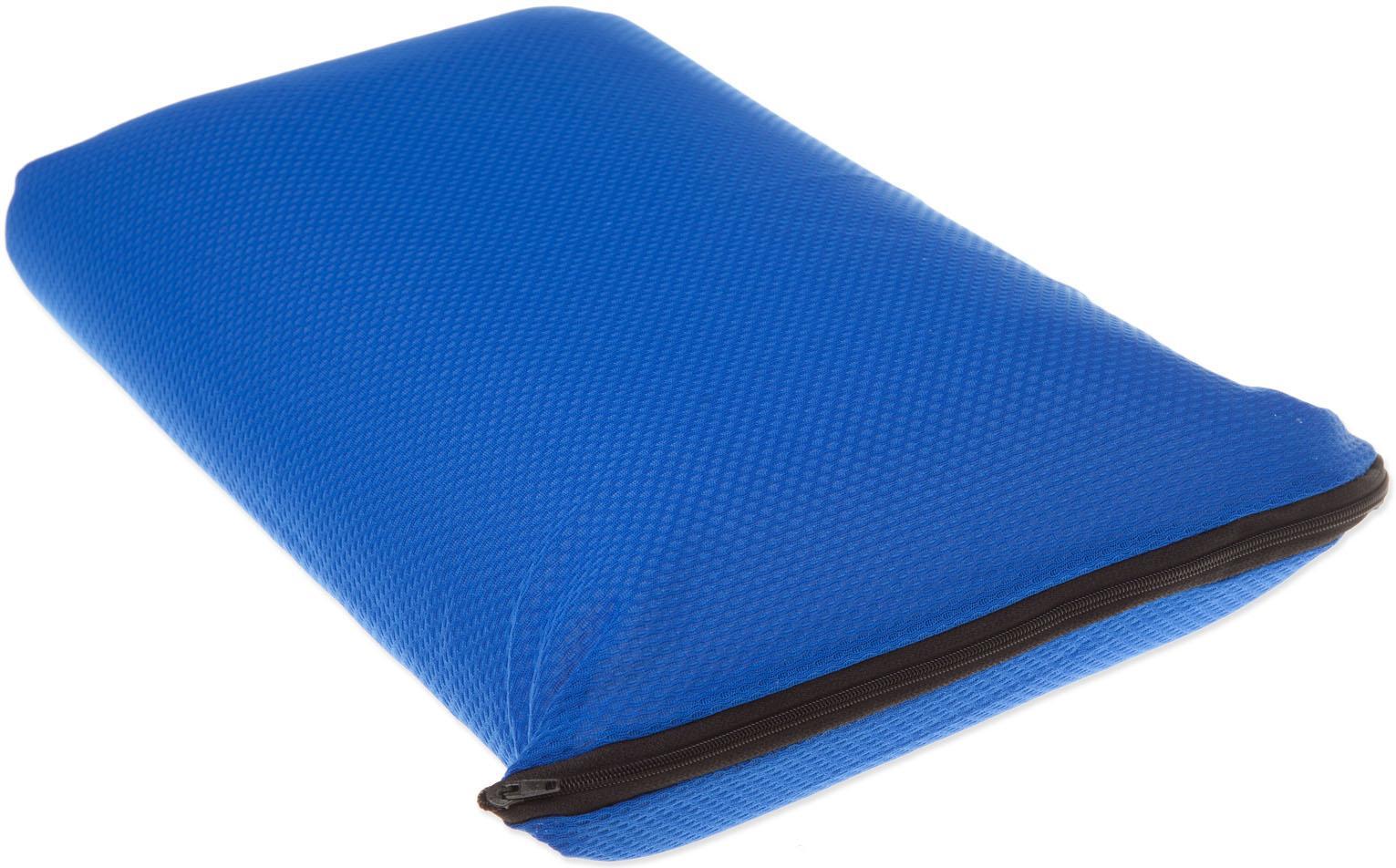 Jekatex Reisekissen 42x24cm, (1 tlg.) blau Nackenkissen Kissen