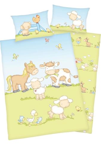 Baby Best Babybettwäsche »Bauernhoftiere«, mit niedlichem Tier Motiv kaufen
