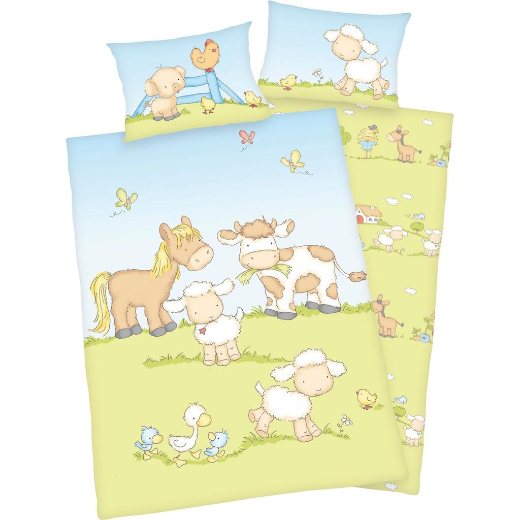 Baby Best Babybettwäsche »Bauernhoftiere«, mit niedlichem Tier Motiv