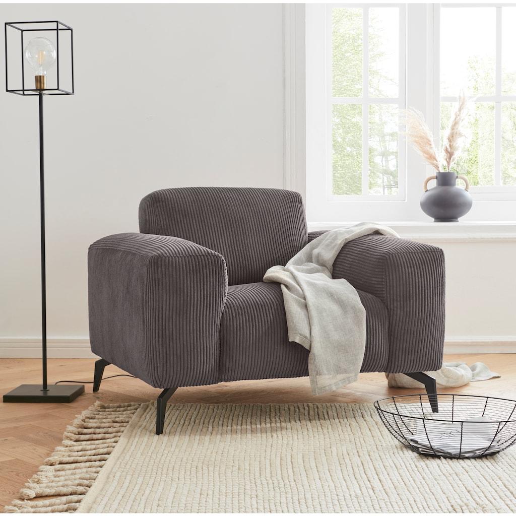 andas Sessel »Drobak«, mit Cord Bezug, extra breiten Armlehnen