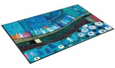 Läufer, »Stadt in Blau«, wash+dry by Kleen - Tex, rechteckig, Höhe 7 mm, gedruckt kaufen