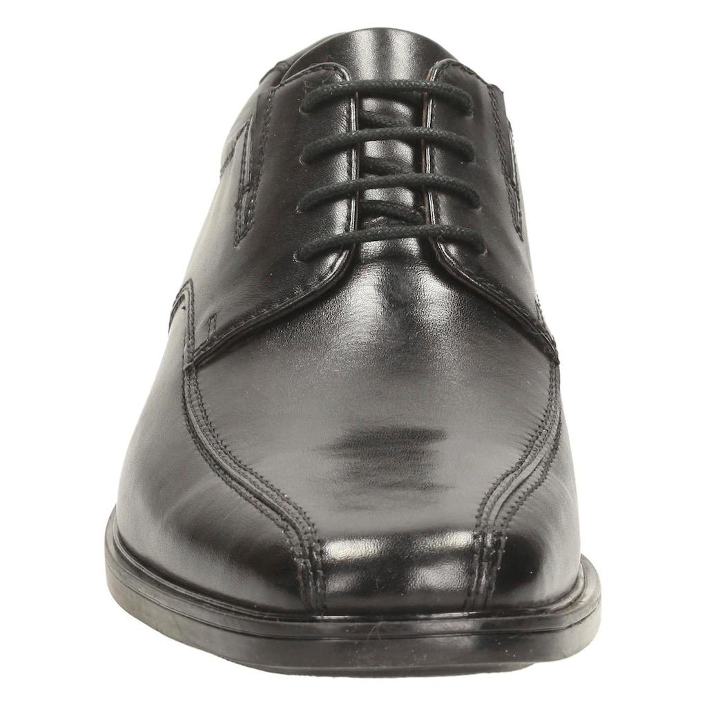 Clarks Schnürschuh »Tilden Walk«, mit modischer Ziernaht