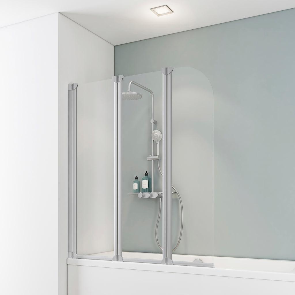 Schulte Badewannenfaltwand »Wega«, teilgerahmt, BxH: 124,5 x 140 cm