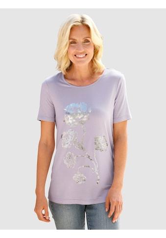 Paola Print-Shirt, mit Blumenfoliendruck vorne kaufen