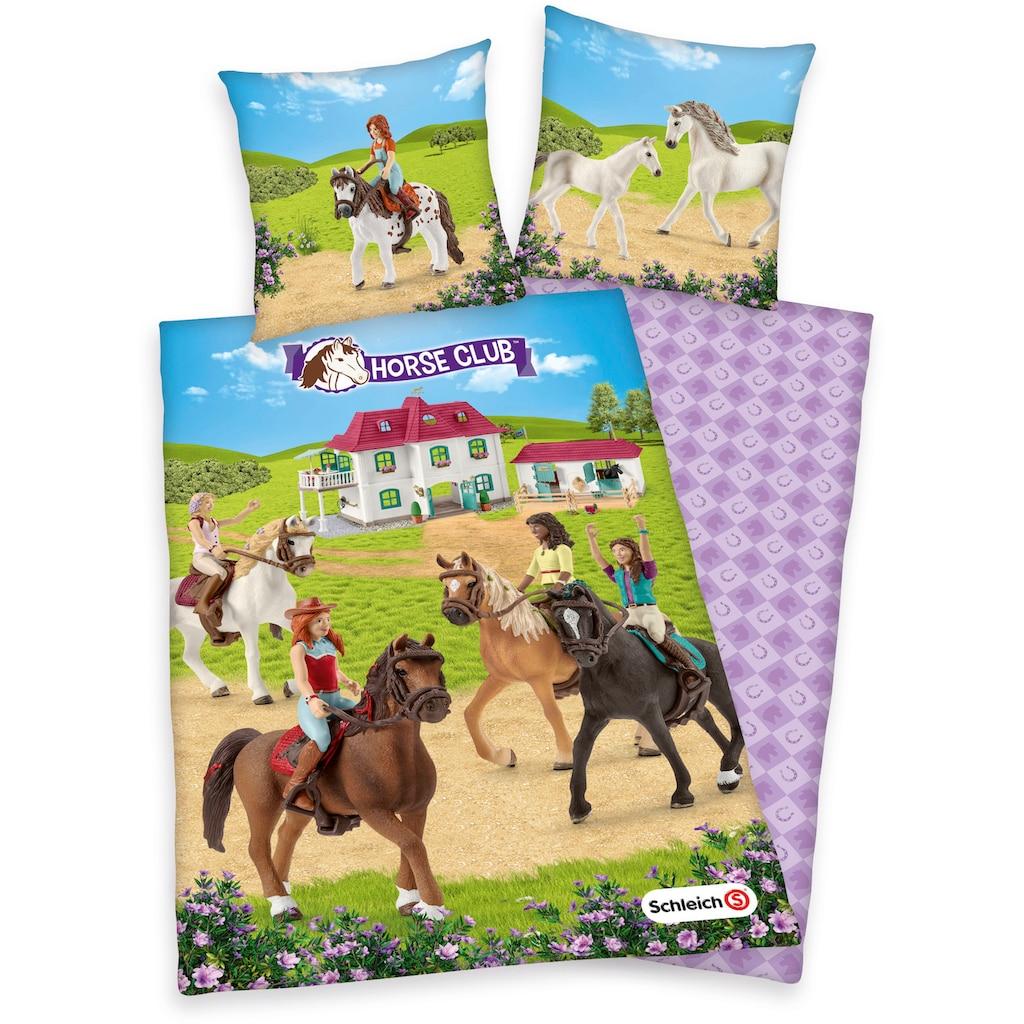 Schleich® Kinderbettwäsche »Schleich, Horse Club«, mit tollem Horse-Club-Motiv