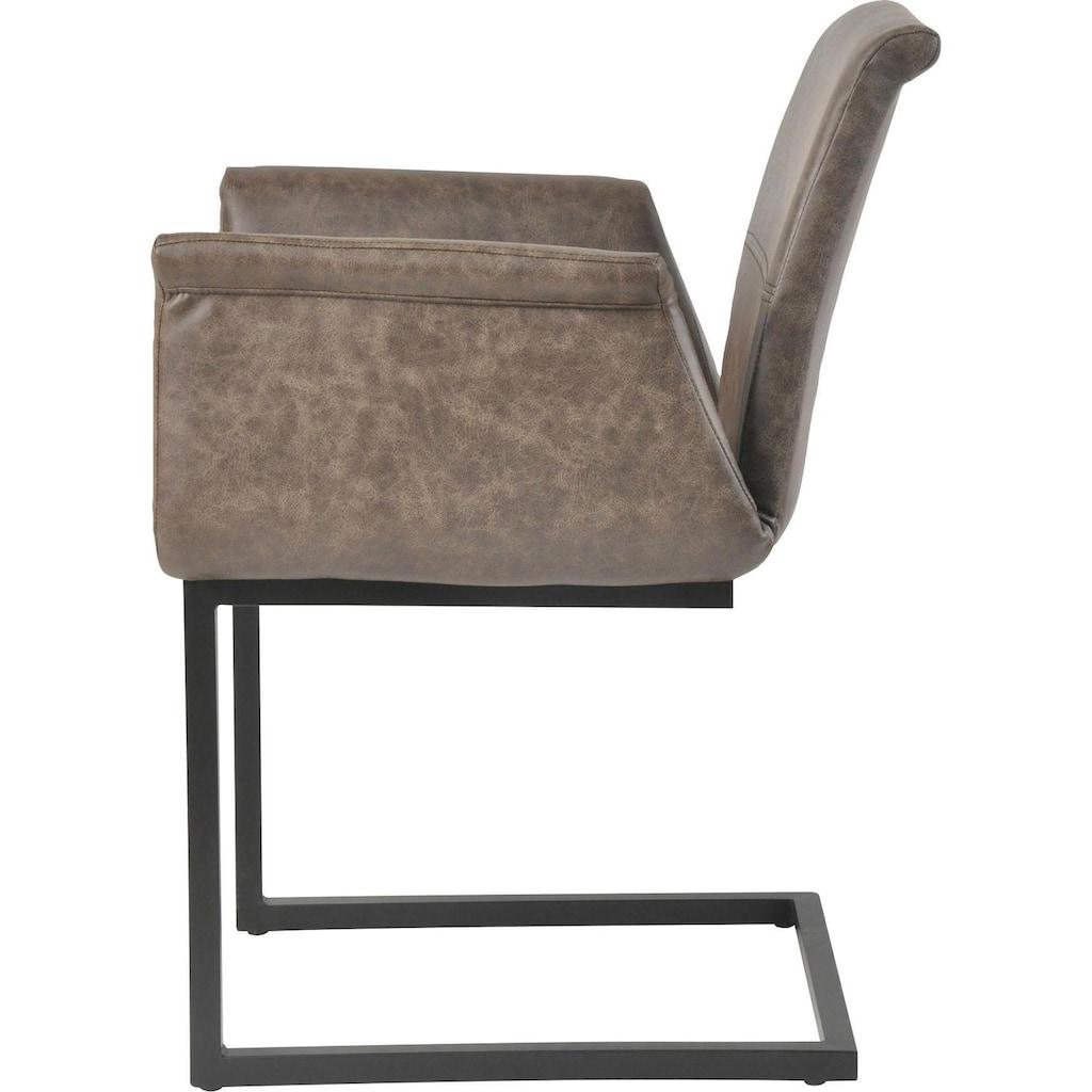 SalesFever Esszimmerstuhl, mit ausgestellten Armlehnen