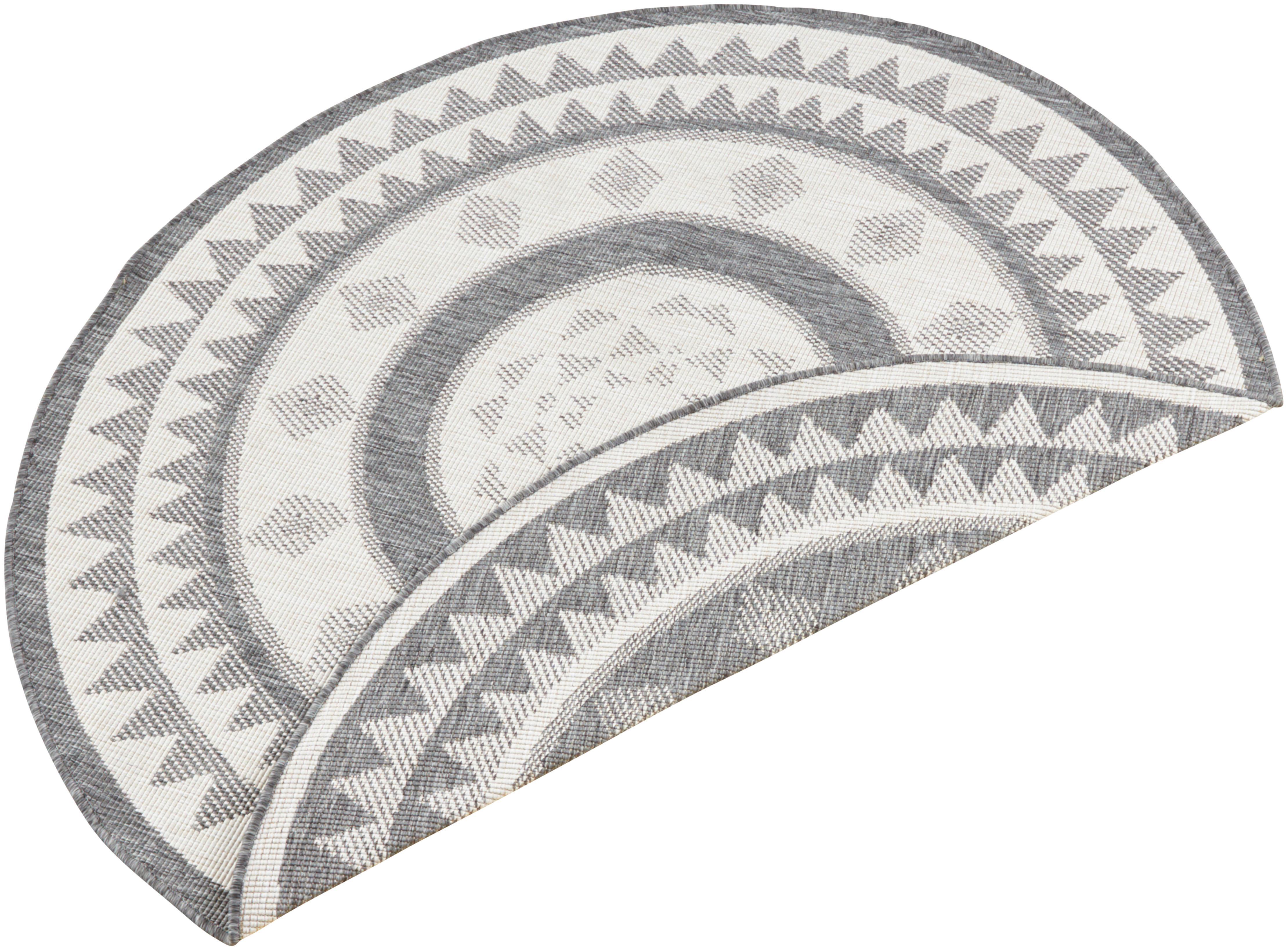 Teppich, »Jamaica«, bougari, rund, Höhe 5 mm, maschinell gewebt | Heimtextilien > Teppiche > Sonstige-Teppiche | Grau | BOUGARI