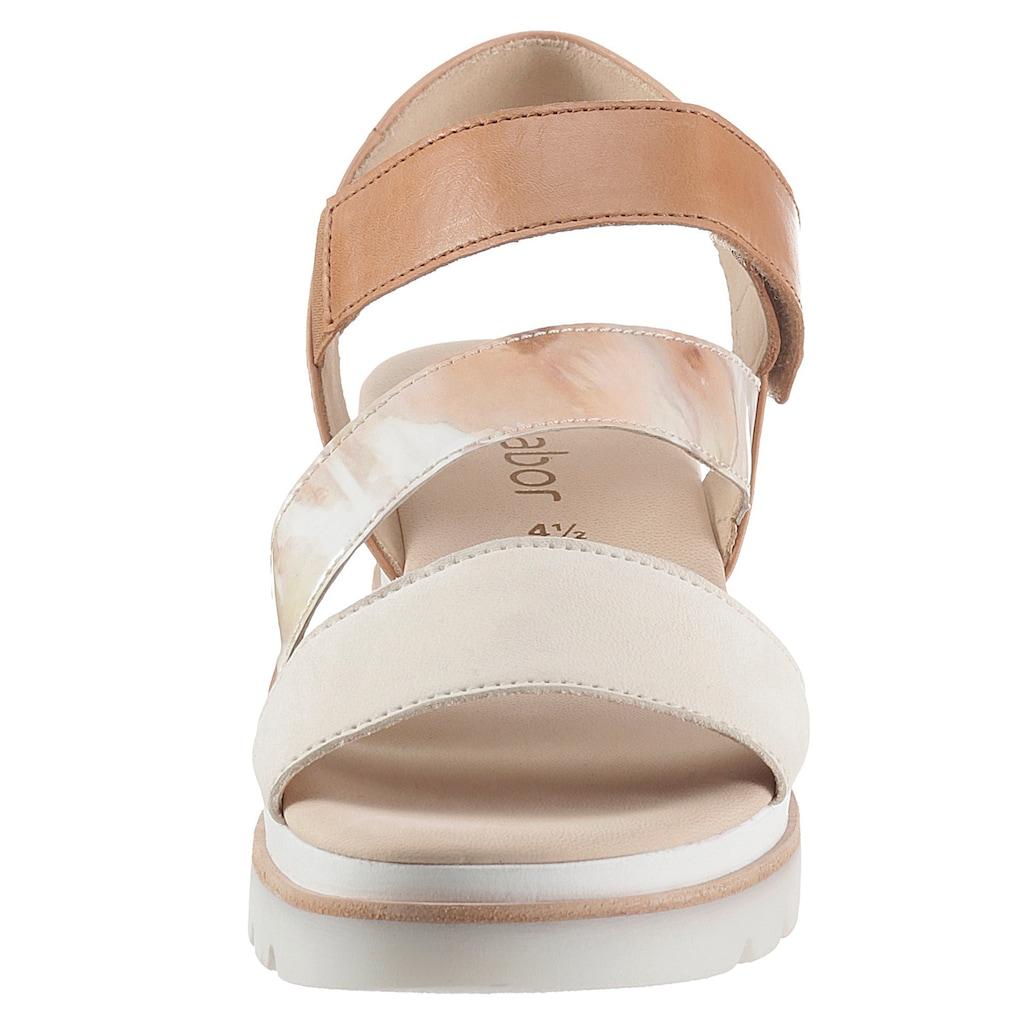 Gabor Sandalette, mit changierender Bandage