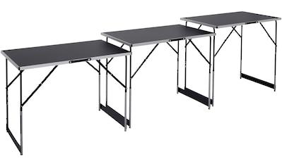 meister Arbeitstisch »Multifunktionstisch 3-teilig«, (3 St.), 73 - 94 cm (4-fach höhenverstellbar) kaufen