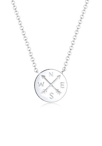 Elli Collierkettchen »Kompass Traveler Reise Trend 925er Sterling Silber« kaufen