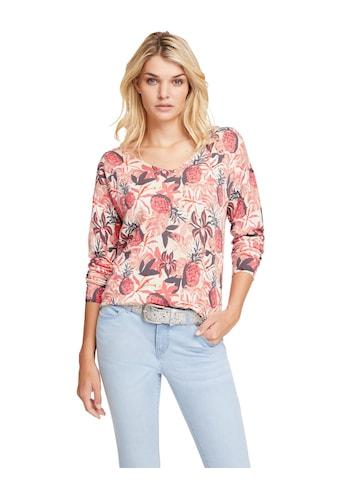 LINEA TESINI by Heine V-Ausschnitt-Pullover »Druck-Pullover« kaufen
