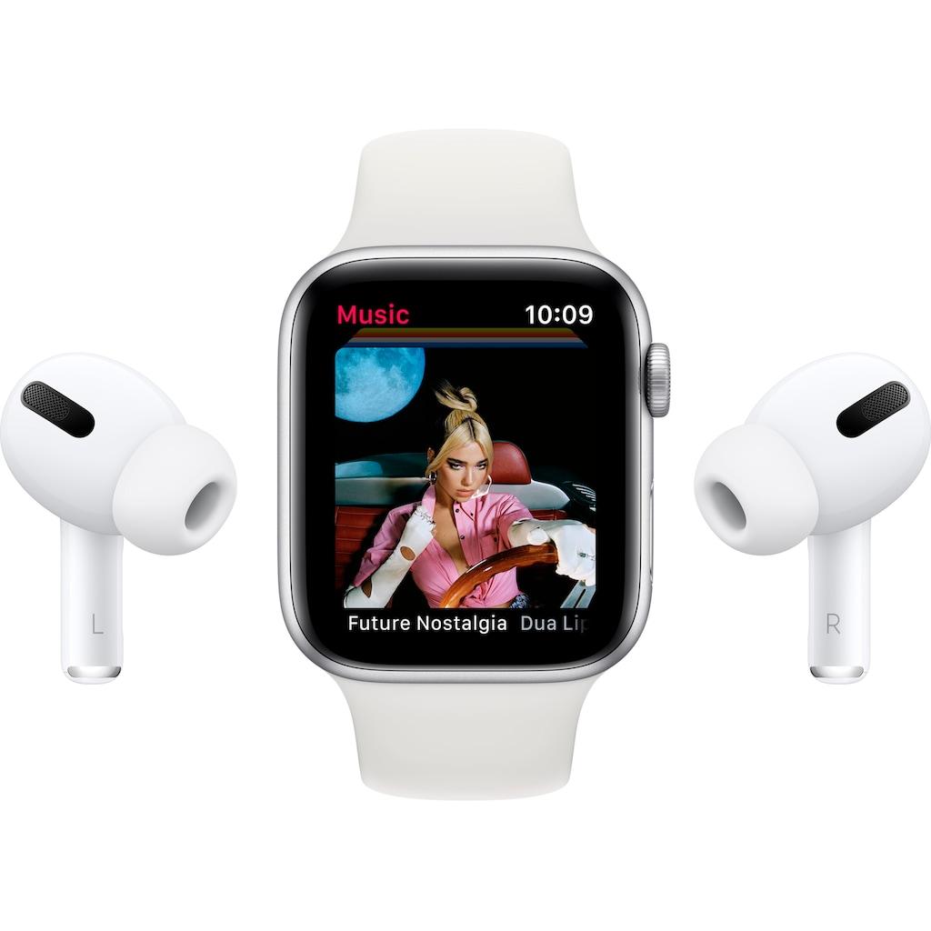 Apple Watch »SE GPS, Aluminiumgehäuse mit Sportarmband 44mm«, (inkl. Ladestation (magnetisches Ladekabel)