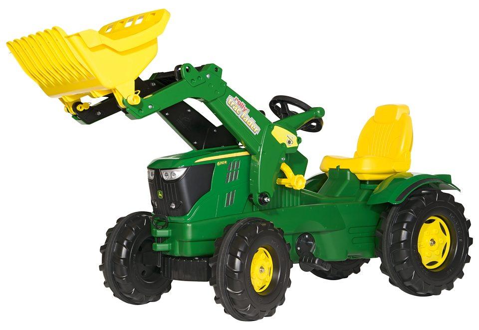 rolly toys® Trettraktor mit Frontlader  rollyFarmtrac John Deere 6210 R  Preisvergleich