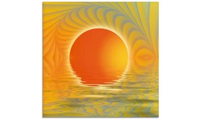 Artland Glasbild »Abstrakter Sonnenuntergang«, Muster, (1 St.) kaufen
