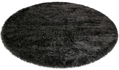 Hochflor - Teppich, »Shiny Touch«, Wecon home, rund, Höhe 70 mm, maschinell gewebt kaufen