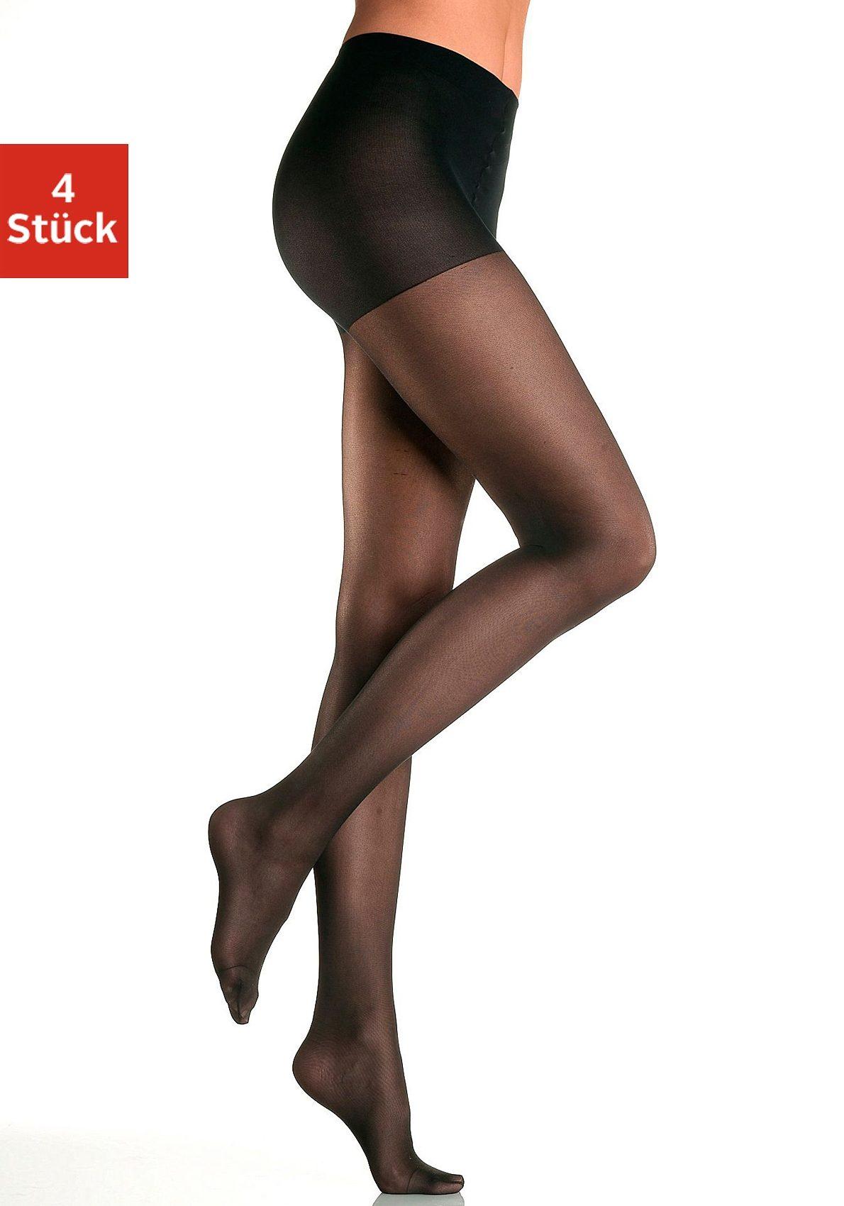 disée Stützstrumpfhose, 40 DEN, (4 St.), mit Formeffekt schwarz Damen Stützstrumpfhosen Strumpfhosen Damenwäsche Stützstrumpfhose