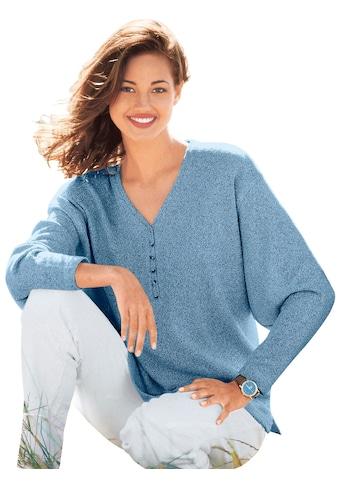 Classic Basics V - Pullover mit kleiner Knopfleiste und Seitenschlitzen kaufen
